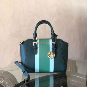 NWT Michael Kors md Ciara leather satchel handbag